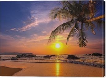 Leinwandbild Sonnenuntergang über dem Meer. Provinz Khao Lak in Thailand