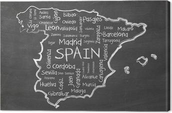 Leinwandbild Spanien auf Tafel