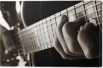 Leinwandbild Spielt Jazz-Gitarre