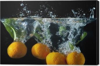 Leinwandbild Splash orange