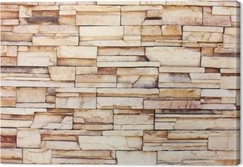 Leinwandbild Stacked Steinmauer