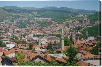 Leinwandbild Stadtansicht von Sarajevo