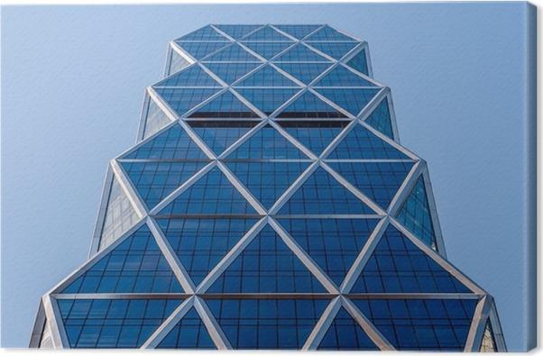 Leinwandbild Stadtische Geometrie Auf Der Suche Bis Zum Gebaude Moderne Architektur Schwarz Und Weiss Beton Glas Abstrakte Inspiration