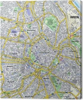 Leinwandbild Stadtplan Wien