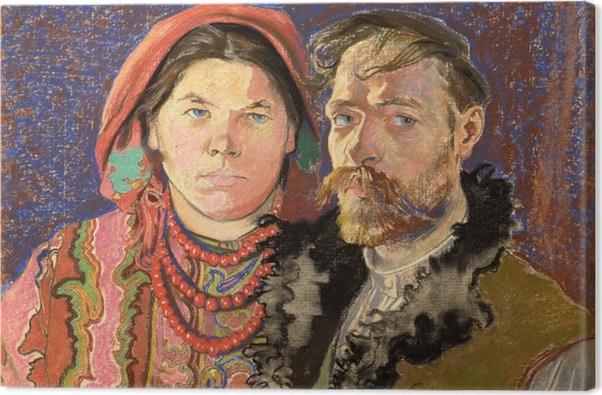 Leinwandbild Stanisław Wyspiański - Porträt des Künstlers und seiner Frau - Reproductions
