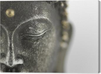 Leinwandbild Statue de bouddha sur blanc