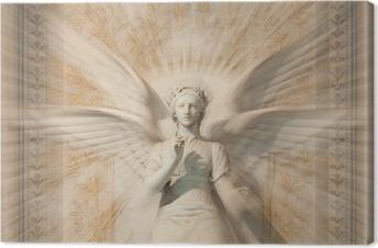 Leinwandbild Statue der Frau Engel.