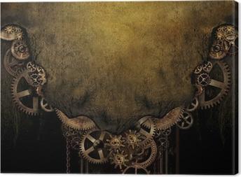 Leinwandbild Steampunk Hintergrund