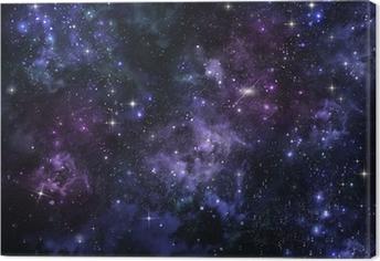 Leinwandbild Sternenhimmel im offenen Raum
