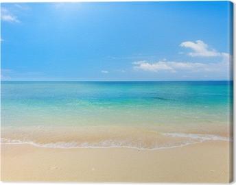 Leinwandbild Strand und tropischen Meer