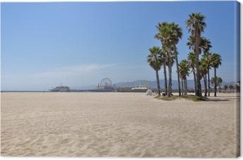 Leinwandbild Strand von Santa Monica, Kalifornien (USA)