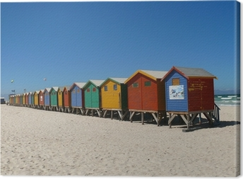 Leinwandbild Strandhäuser Muizenberg