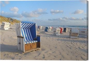 Leinwandbild Strandkörbe auf Sylt