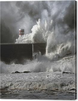 Leinwandbild Stürmischen Wellen