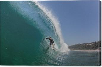 Leinwandbild Surfen Rohr-Fahrt Großen Wellen