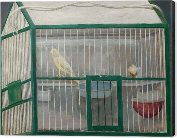 Leinwandbild Tadeusz Makowski - Käfig mit Kanarienvogel - Reproductions