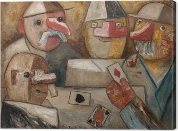 Leinwandbild Tadeusz Makowski - Kartenspiel - Reproductions
