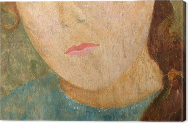 Leinwandbild Tadeusz Makowski - Mädchen mit rotem Zopf - Reproductions