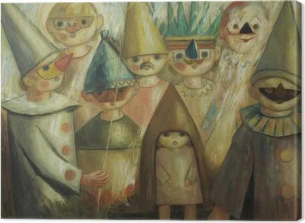 Leinwandbild Tadeusz Makowski - Maskerade -