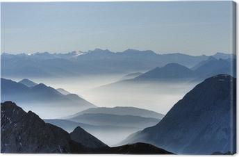 Leinwandbild Talnebel von der Zugspitze 01