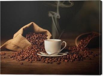 Leinwandbild Tasse dampfenden Kaffee