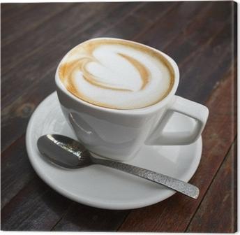 Leinwandbild Tasse Latte Kaffee