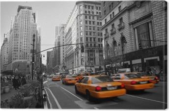 Leinwandbild Taxis in Manhattan