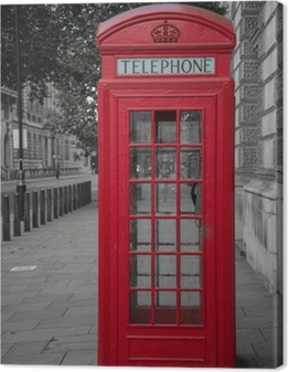 Leinwandbild Telefonzelle in London