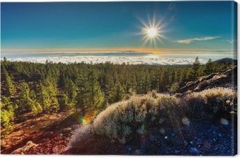 Leinwandbild Teneriffa - Sunset