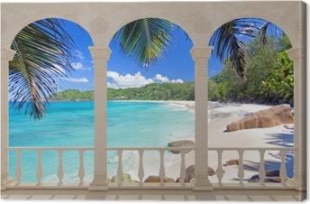 Leinwandbild Terrasse - Tropical