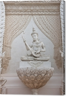 Leinwandbild Thai Engel-Statue
