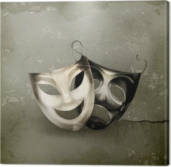 Leinwandbild Theater Masken, alten Stil