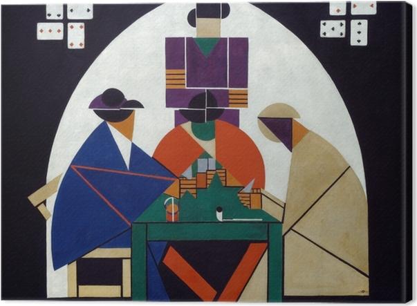 Leinwandbild Theo van Doesburg - Kartenspieler - Reproductions