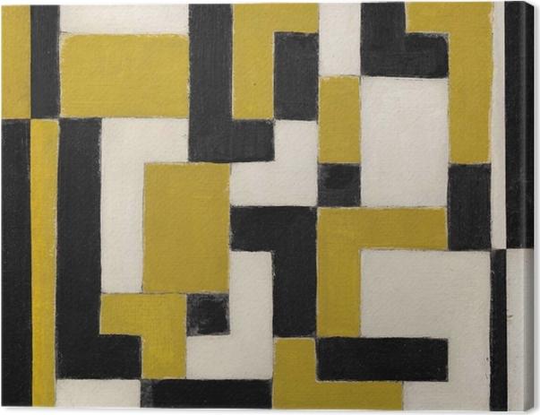 Leinwandbild Theo van Doesburg - Komposition von Dissonanzen - Reproductions