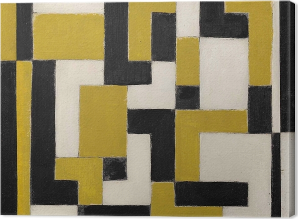 Leinwandbild Theo van Doesburg - Komposition von Dissonanzen - Reproductions