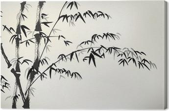 Leinwandbild Tinte gemalt Bambus