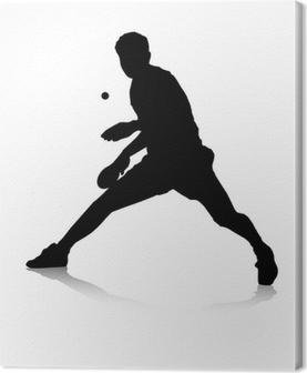 Leinwandbild Tischtennisspieler