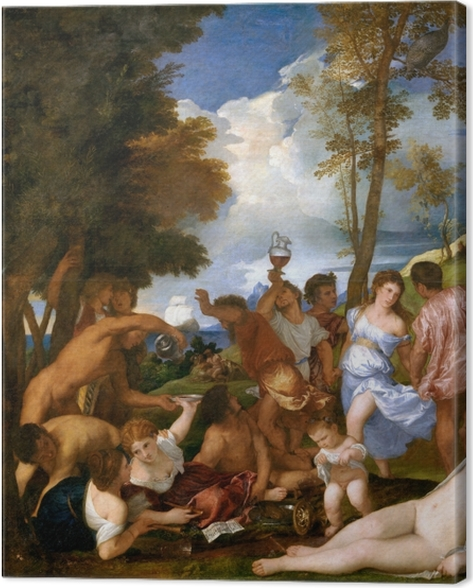 Leinwandbild Tizian - Bacchanalien - Reproduktion