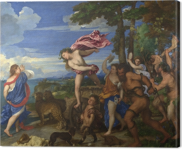 Leinwandbild Tizian - Bacchus und Ariadne - Reproduktion