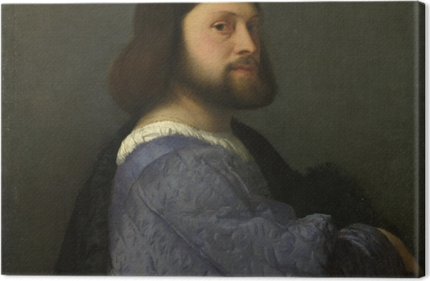 Leinwandbild Tizian - Bildnis eines jungen Mannes - Reproduktion