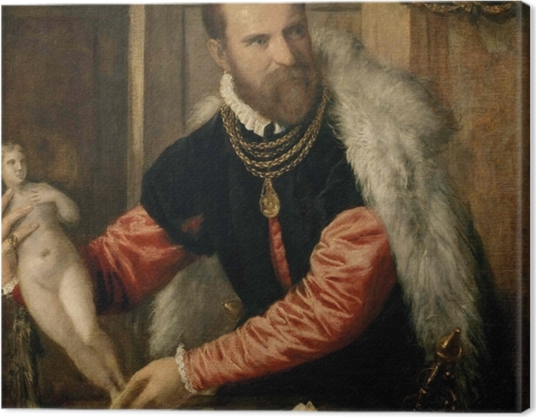 Leinwandbild Tizian - Bildnis Jacopo de Strada - Reproduktion