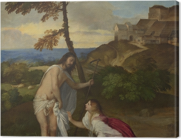 Leinwandbild Tizian - Christus und Maria Magdalena (Noli me tangere) - Reproduktion