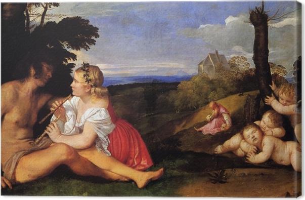 Leinwandbild Tizian - Drei Lebensalter - Reproduktion