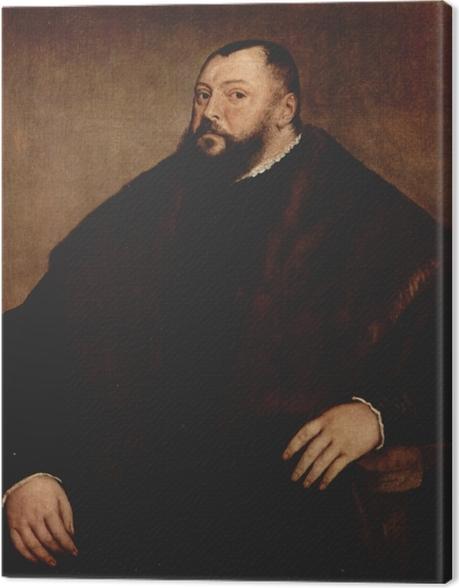 Leinwandbild Tizian - Kurfürst Johann Friedrich von Sachsen - Reproduktion