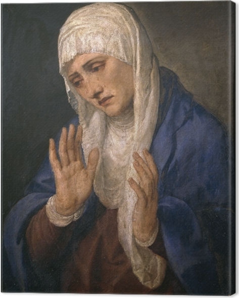 Leinwandbild Tizian - Mater Dolorosa - Reproduktion