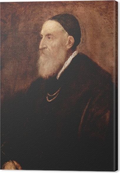 Leinwandbild Tizian - Selbstbildnis - Reproduktion
