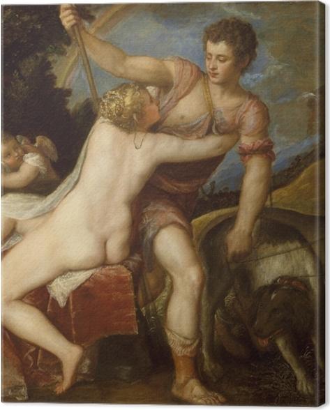 Leinwandbild Tizian - Venus und Adonis - Reproduktion