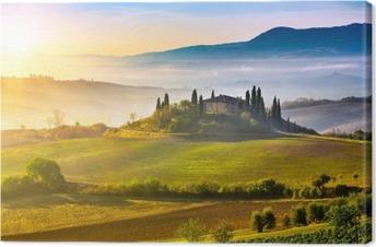 Leinwandbild Toskana bei Sonnenaufgang