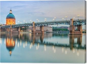 Leinwandbild Toulouse - Krankenhaus La Grave und Pont Saint-Pierre
