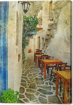 Leinwandbild Traditionelle griechische Tavernen-künstlerisches Bild
